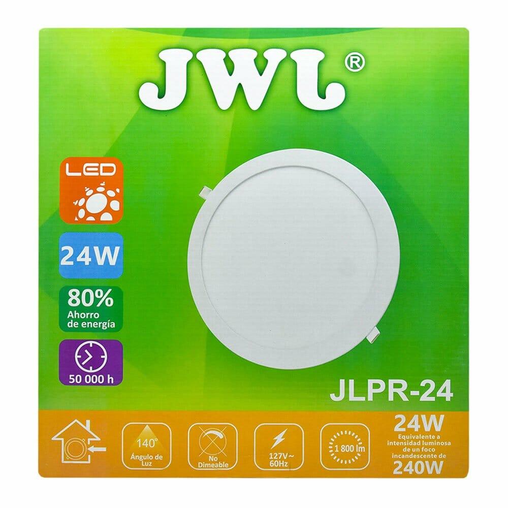 Panel de led para empotrar redondo 24w luz blanca jlpr-24b