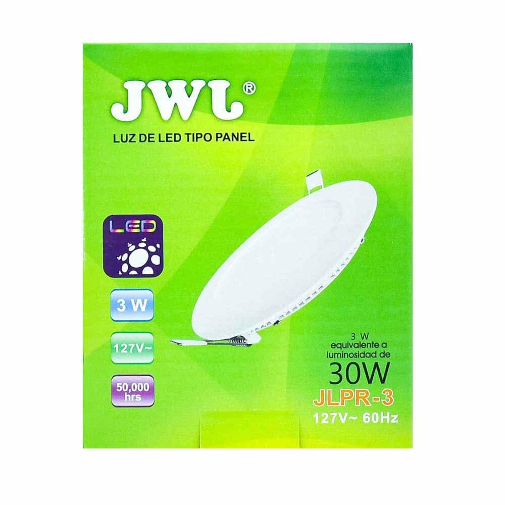 Panel de led para empotrar redondo 3w luz cálida jlpr-3c