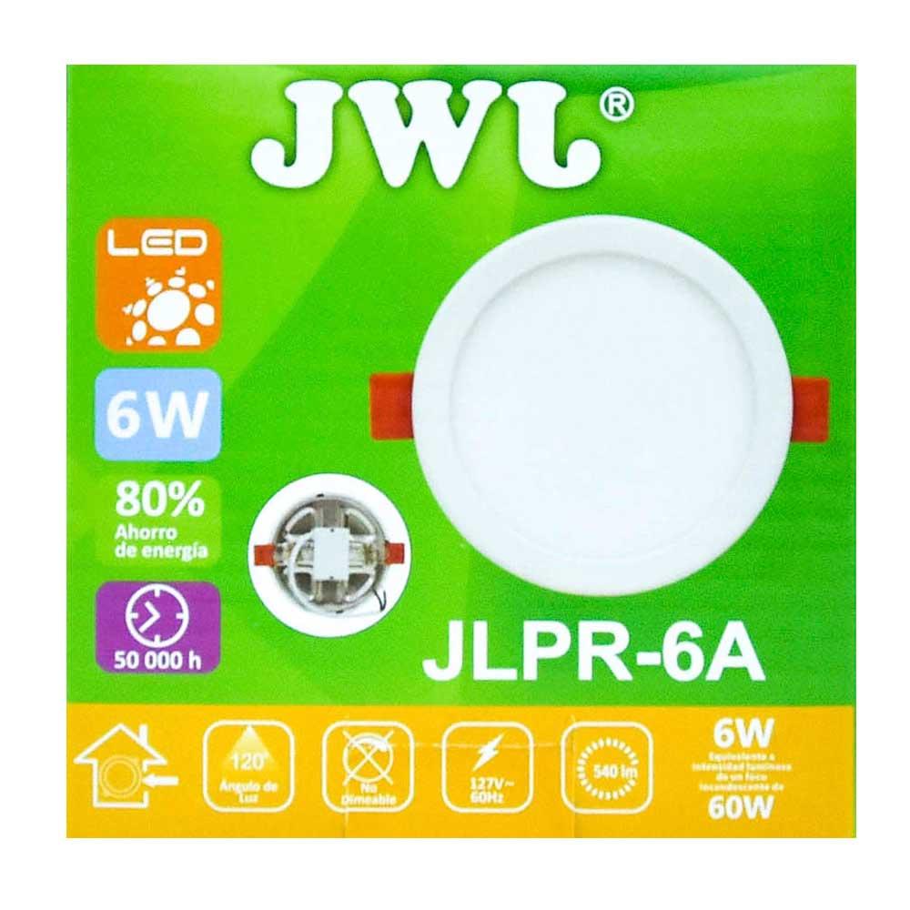 Plafón led redondo ajustable de 6w luz blanca jlpr-6ab