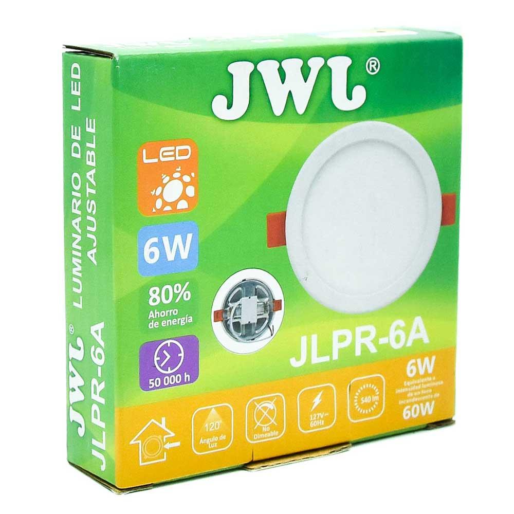 Plafón led redondo ajustable de 6w luz cálida jlpr-6ac jwj