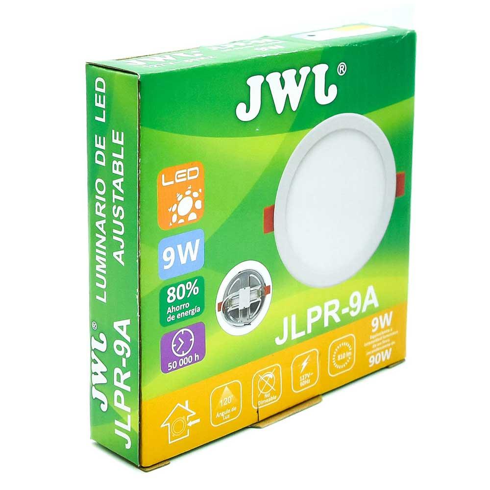 Plafón led redondo ajustable de 9w luz cálida jlpr-9ac jwj