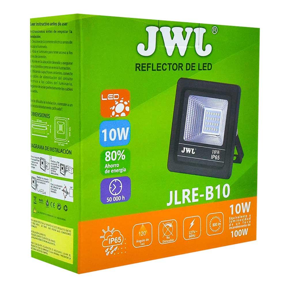 Reflector led tipo smd facetado ip65 10w luz blanca jlre-b10b jwj