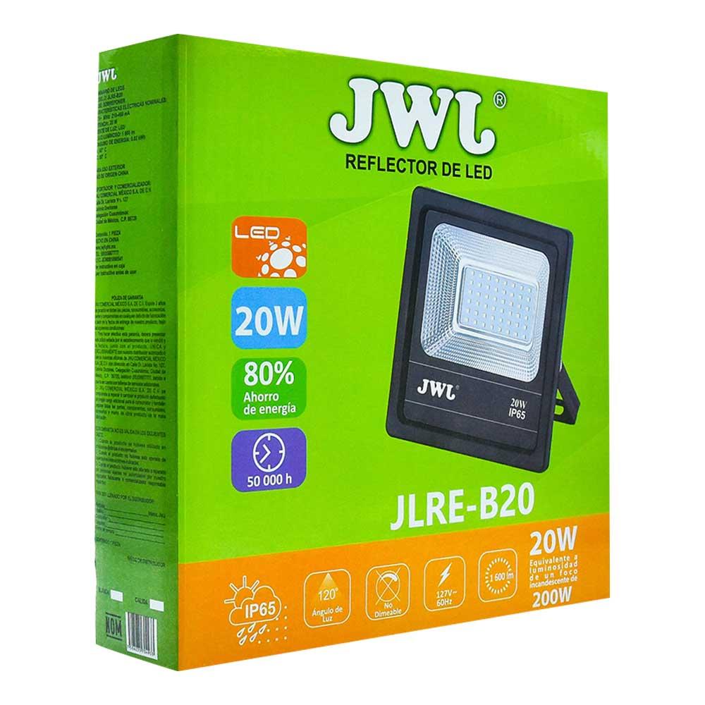 Reflector led tipo smd facetado ip65 20w luz blanca jlre-b20b jwj