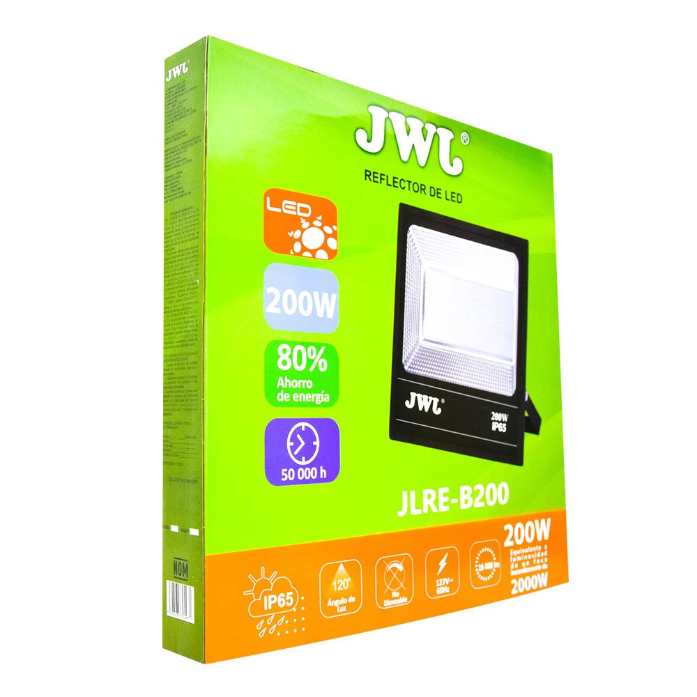 Reflector led tipo smd facetado ip65 200w luz blanca jlre-b200b jwj