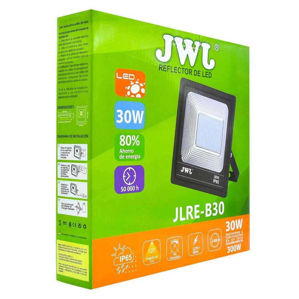 Reflector led tipo smd facetado ip65 30w luz blanca jlre-b30b jwj