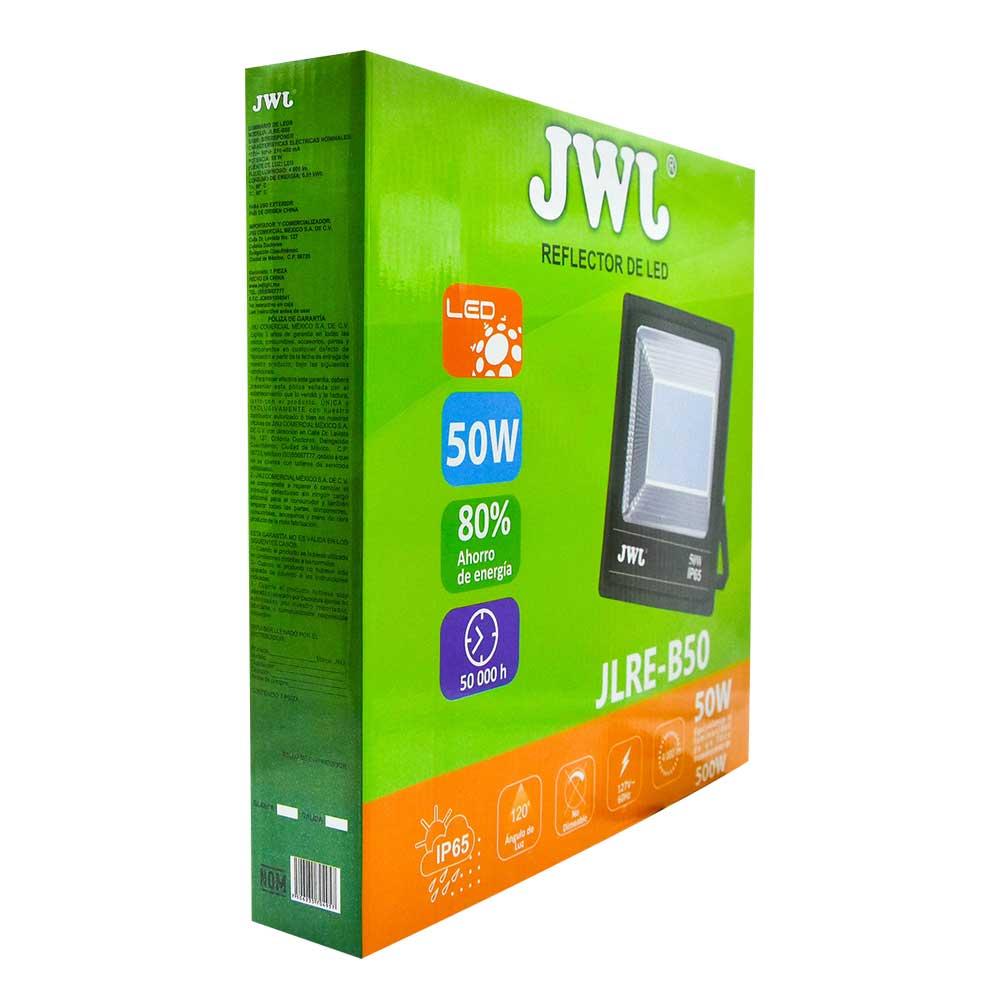 Reflector led tipo smd facetado ip65 50w luz blanca jlre-b50b marca jwj