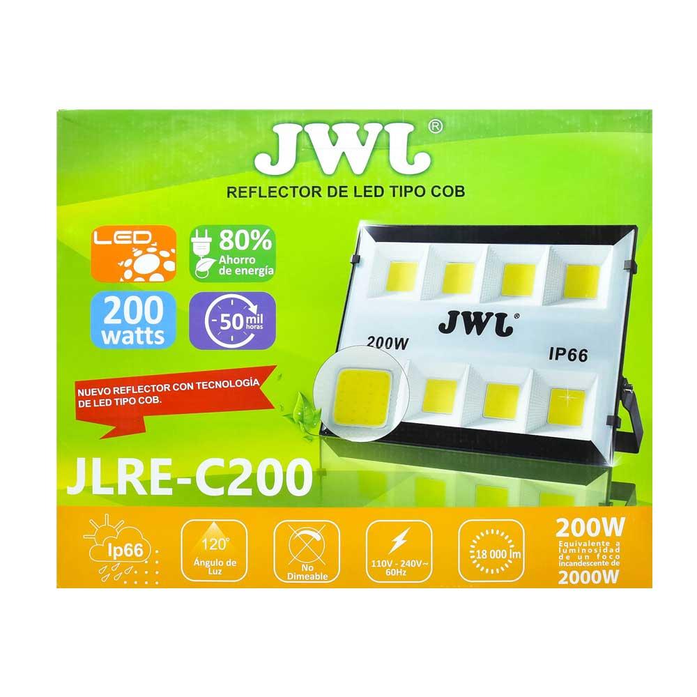 Reflector led tipo cob ip66 200w luz blanca jlre-c200b jwj