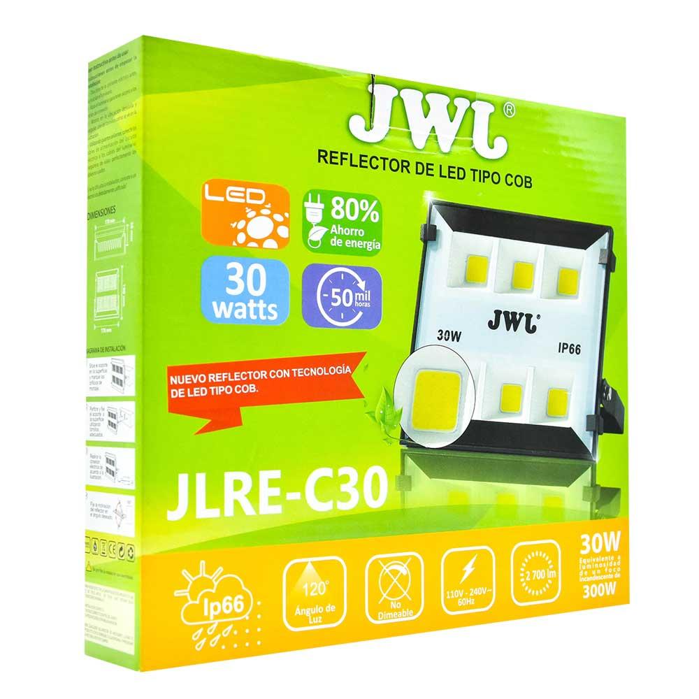 Reflector led tipo cob ip66 30w luz blanca jlre-c30b jwj