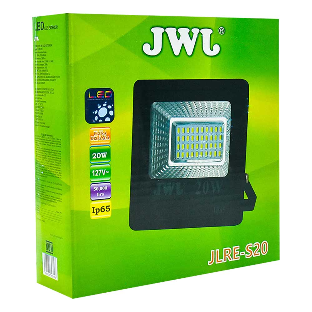 Reflector led tipo smd ip65 20w luz blanca jlre-s20b jwj