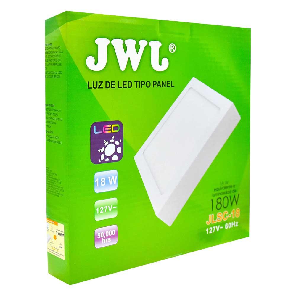 Panel led cuadrado de sobreponer 18w luz blanca jlsc-18b jwj
