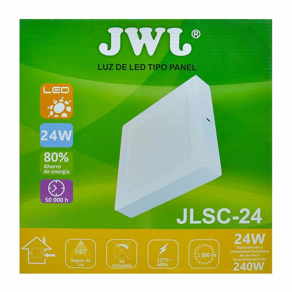 Panel led cuadrado de sobreponer 24w luz cálida jlsc-24c jwj