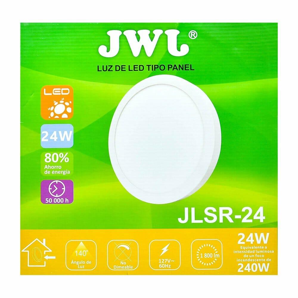 Panel led redondo de sobreponer 24w luz blanca jlsr-24b jwj