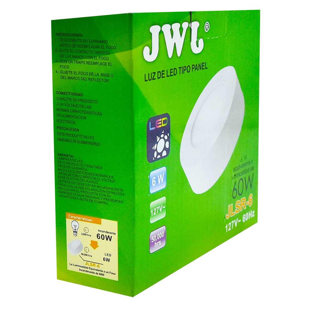 Panel led redondo de sobreponer 6w luz blanca jlsr-6b jwj