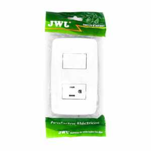 Placa con interruptor sencillo y una toma de corriente jlt-c7344 jwj