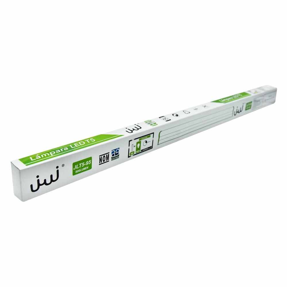 Tubo de led t5 con base integrada 9w 60cm opalino luz blanca jlt5-95b/b