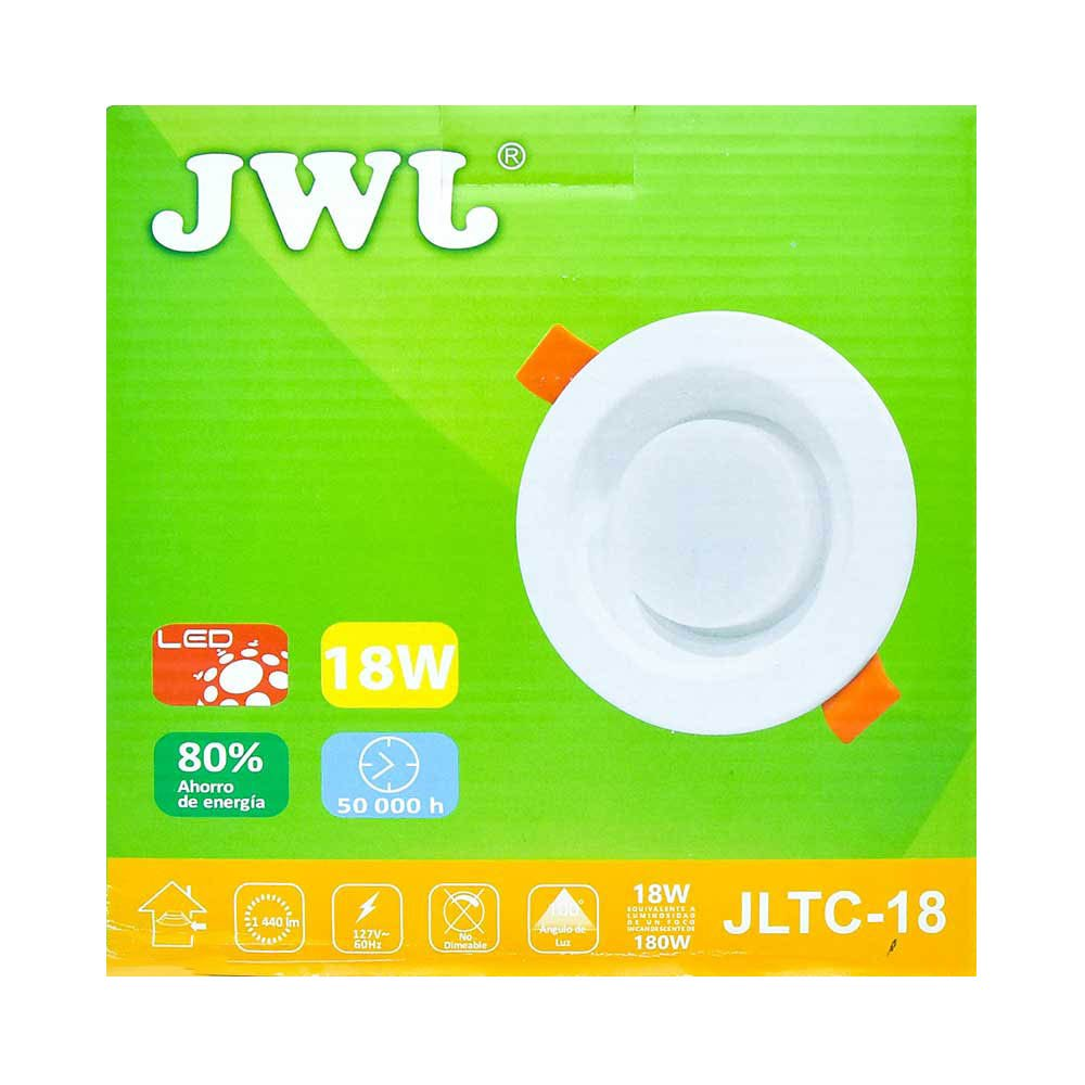 Plafón led empotrable 18w con driver integrado luz blanca jltc-18b jwj