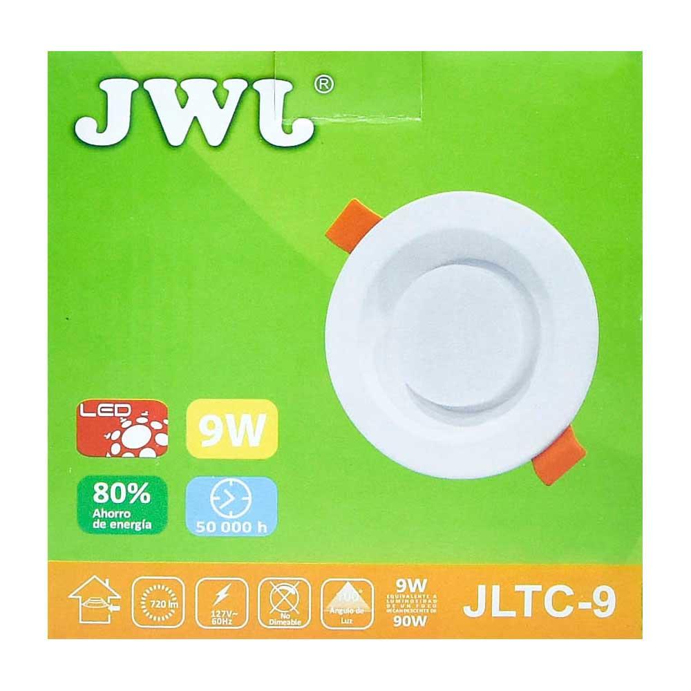 Plafón led empotrable 9w con driver integrado luz blanca jltc-9b jwj