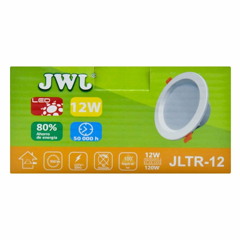 Plafón led empotrable 12w para bote integral luz blanca jltr-12b jwj