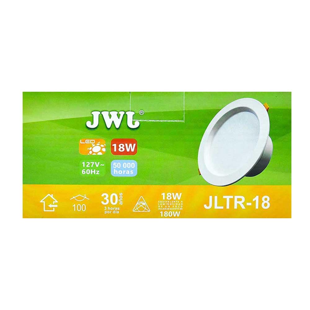 Plafón led empotrable 18w para bote integral luz neutra jltr-18n jwj