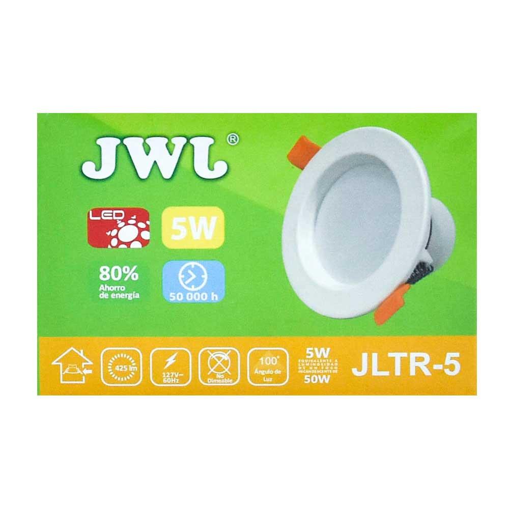 Plafón led empotrable 5w para bote integral luz blanca jltr-5b jwj