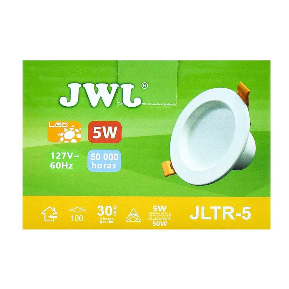 Plafón led empotrable 5w para bote integral luz neutra jltr-5n jwj
