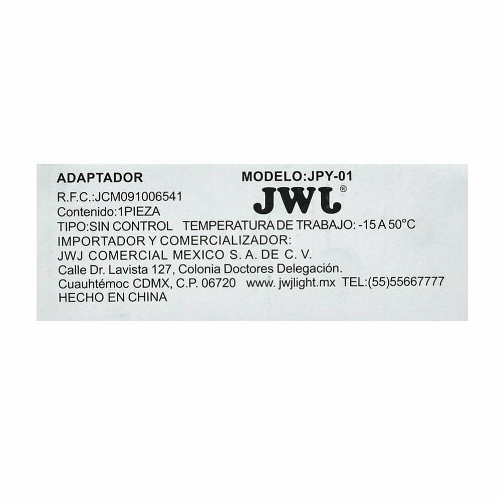 Eliminador para tira led 3528 ip20/ip65 1a jpy-01 jwj