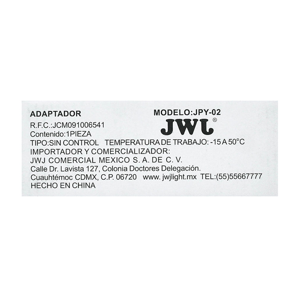 Eliminador para tira led 5050 ip20/ip65 2.5a jpy-02 jwj