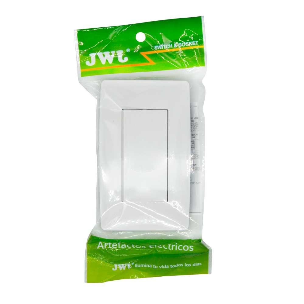 Placa con interruptor sencillo, 3 modulos. 10 a jtl-c7301