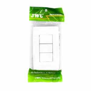 Placa con 3 interruptores escalera 1 modulo. 10 a. jtl-c7310 jwj