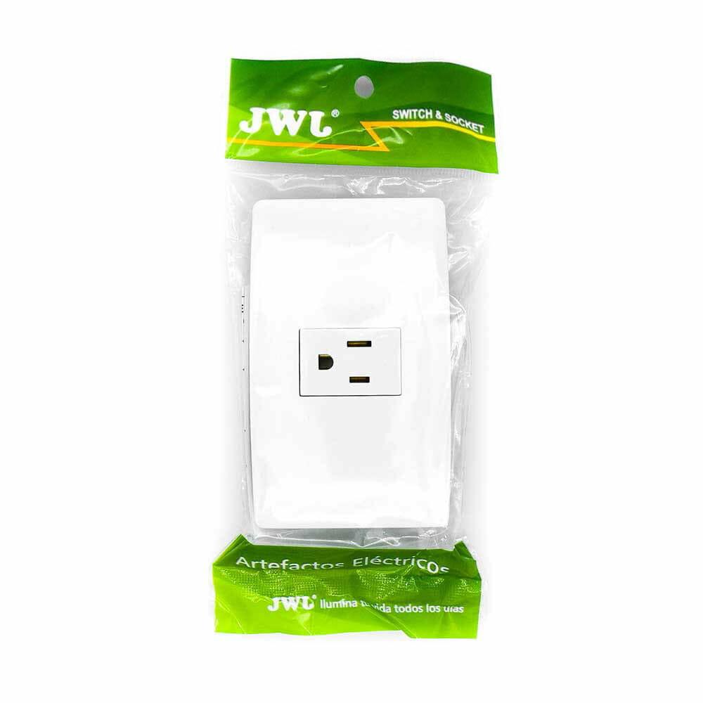 Placa con toma de corriente 2p+t, 1 modulo. 15 a. jtl-c7322 jwj