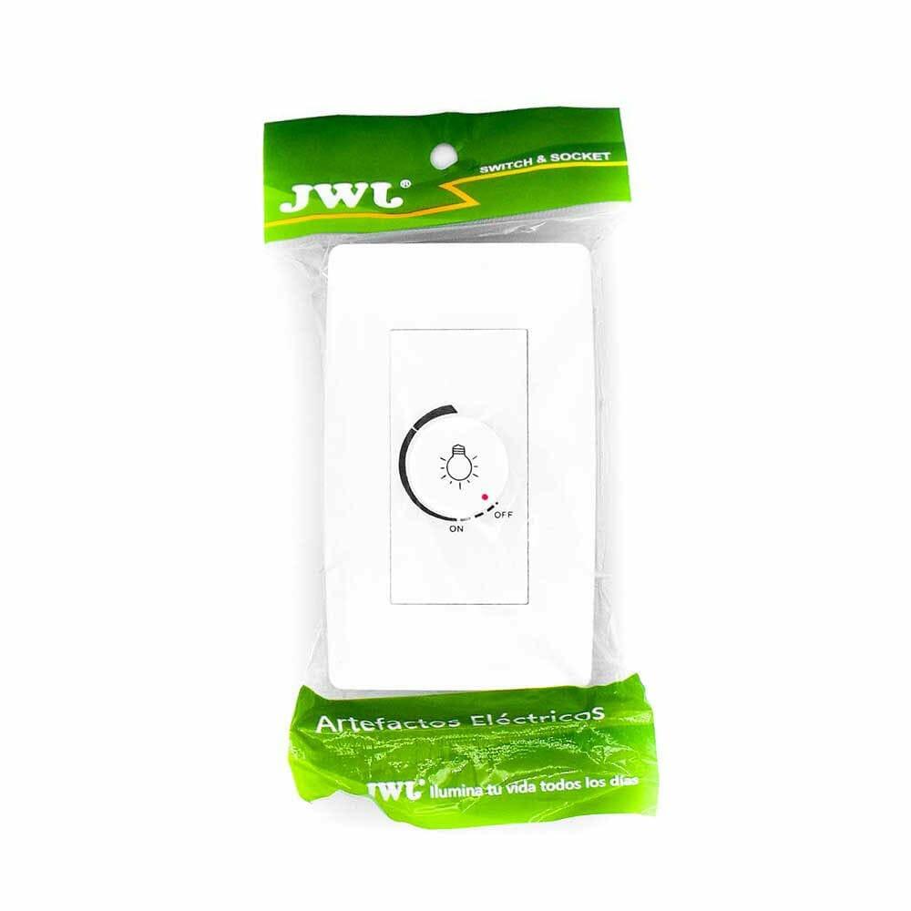 Placa con dimmer rotativo para lampara incandescente 300w/127v jtl-c7329 jwj