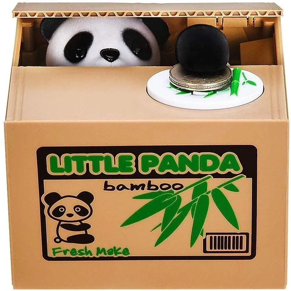 Dinero robado oso ahorro tanque codicioso panda hucha