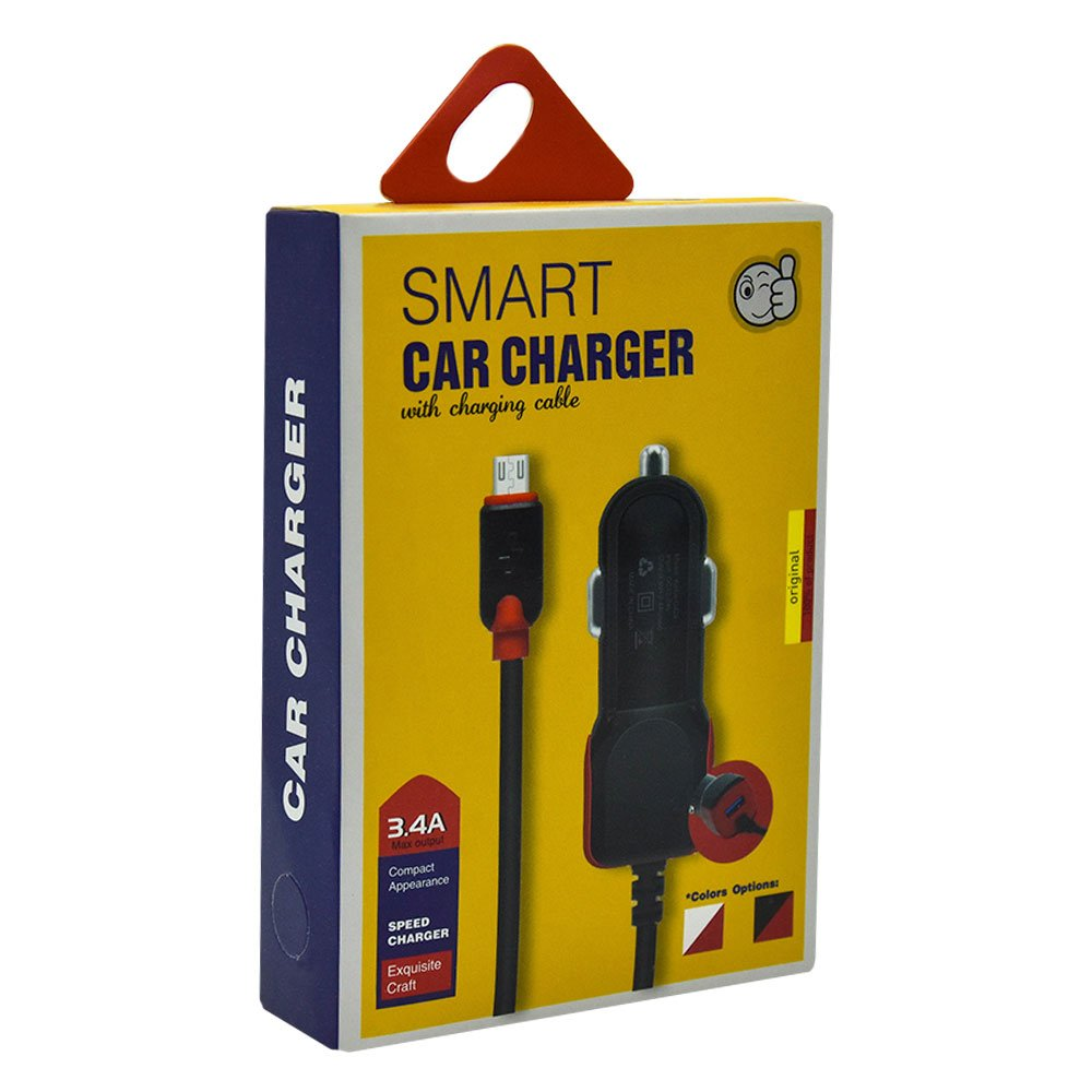 Cargador para carro v8 smart car charger 3.4a keke-c42a