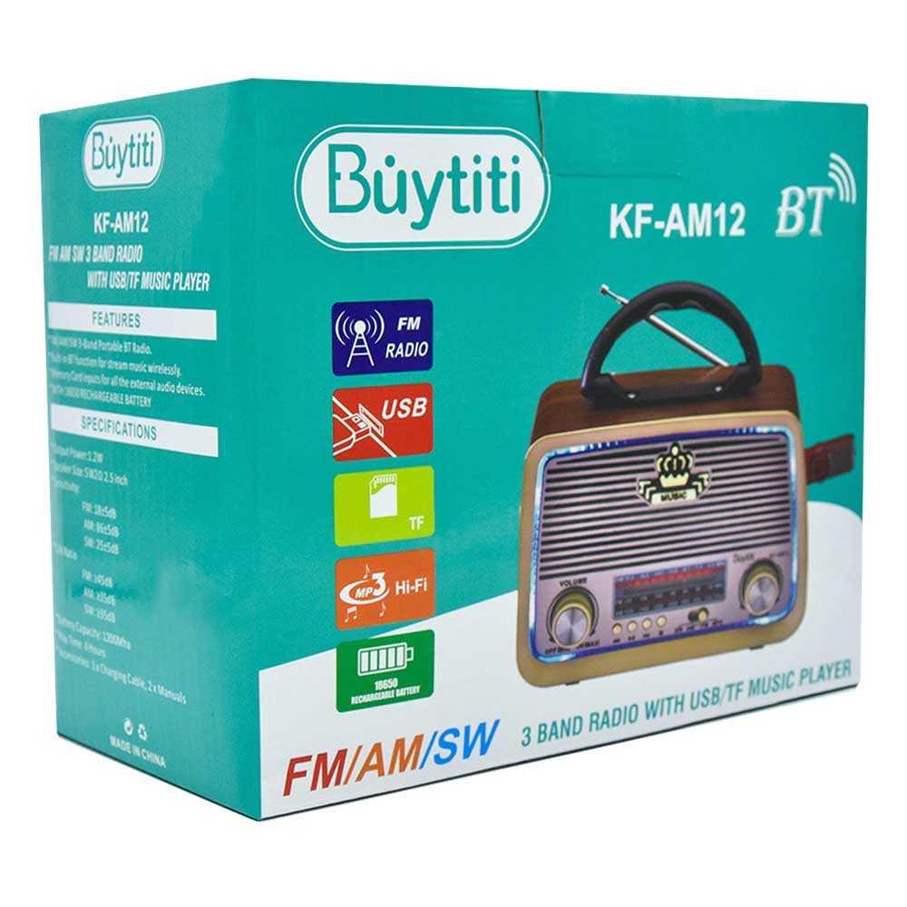 Radio bt/fm/am/sw kf-am12
