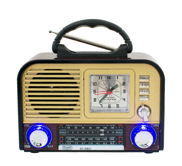 Radio buytiti 3 bandas am fm sw con usb tf kf-am27
