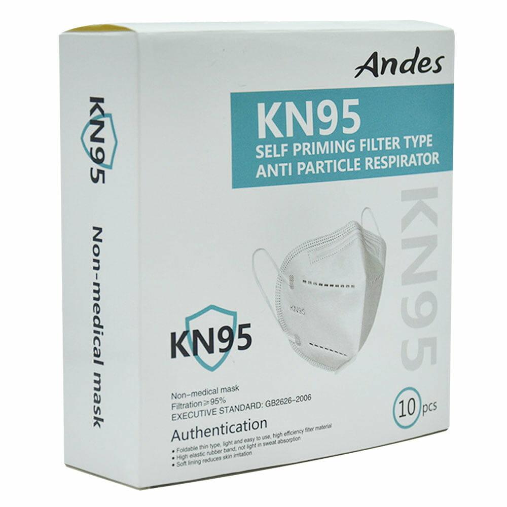 Caja de kn95 sin valvula con 10 pz color azul kn95.andes