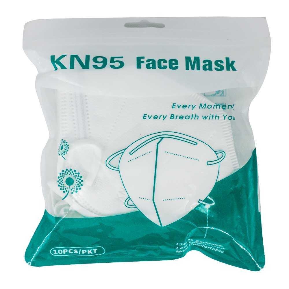 Paq de kn95 sin filtro con 10pz kn95.face