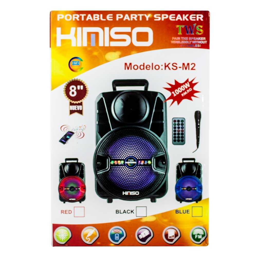 """Bocina portable con microfono 8"""" ks-m2"""