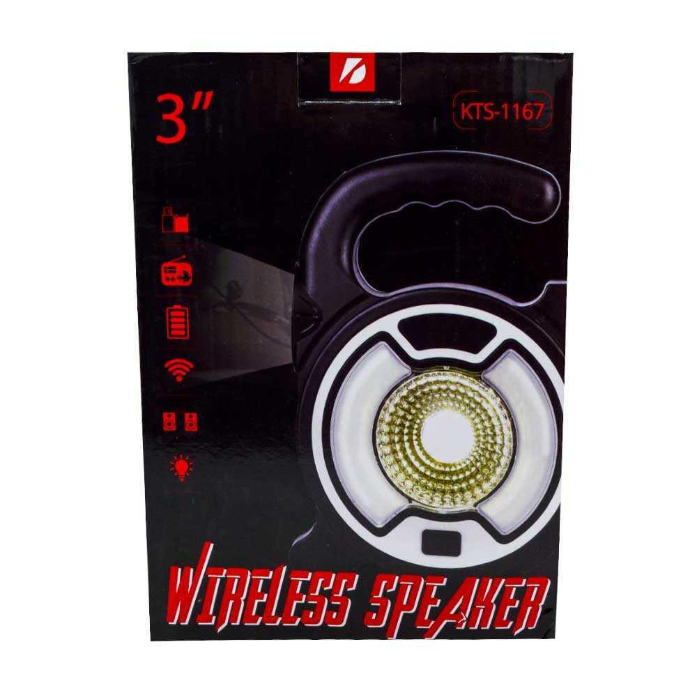 "Bocina wireless speaker 3"" kts-1167"