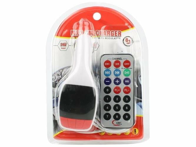 Transmisor fm y mp3 con control kc-626
