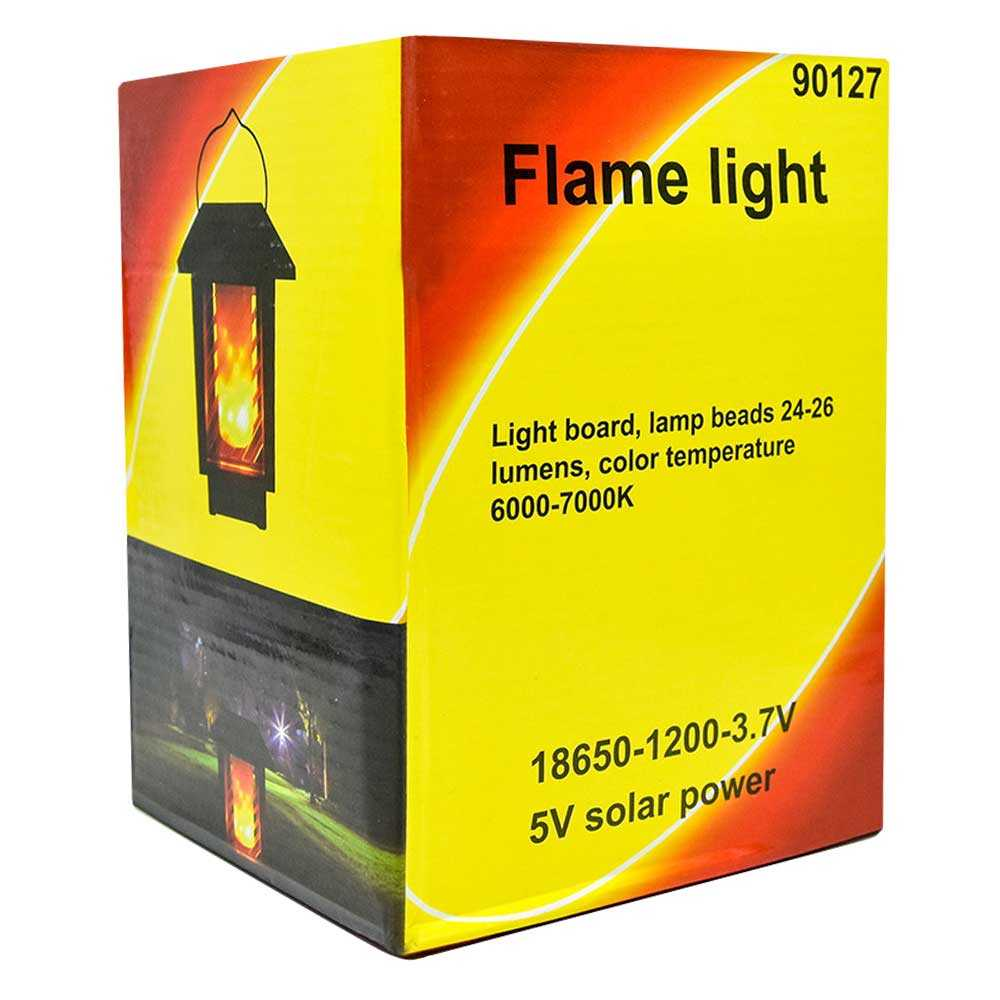 Lampara flame light solar lam5709