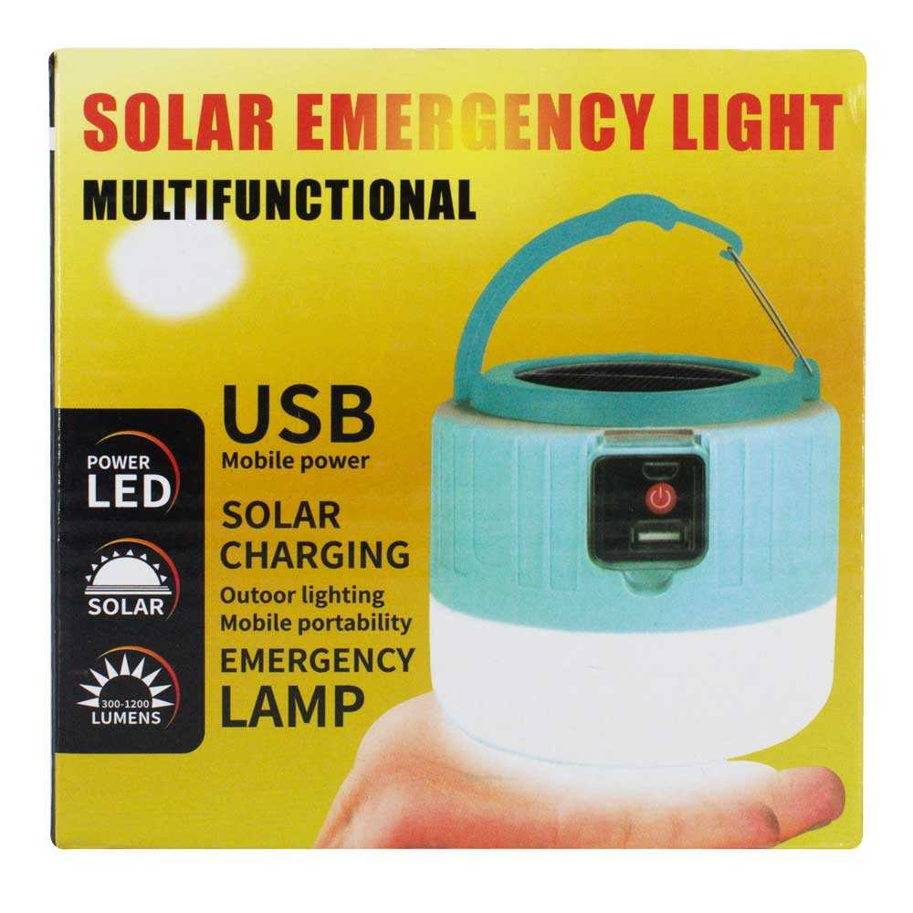 Lampara solar de emergencia led-036