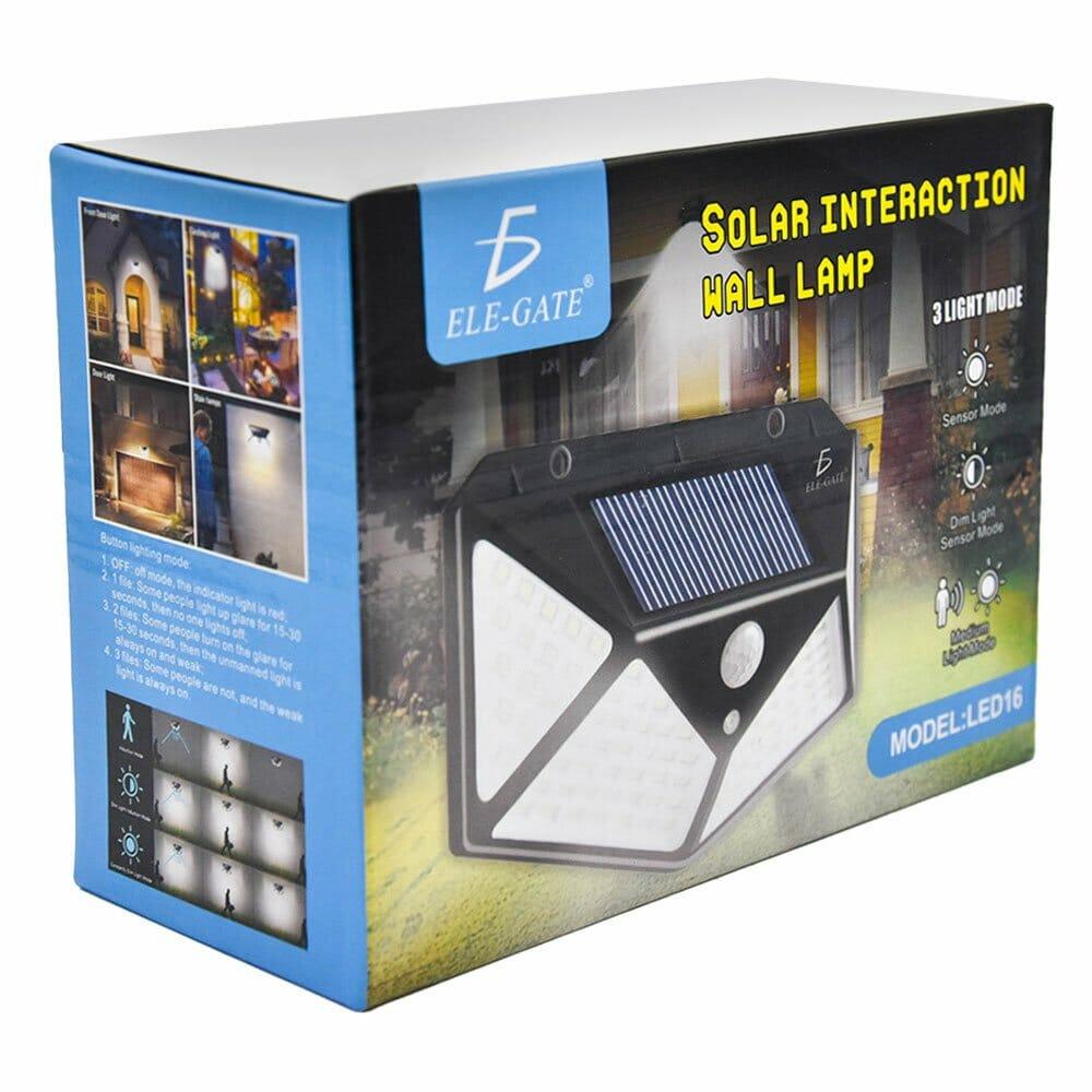 Lámpara solar de pared / led16