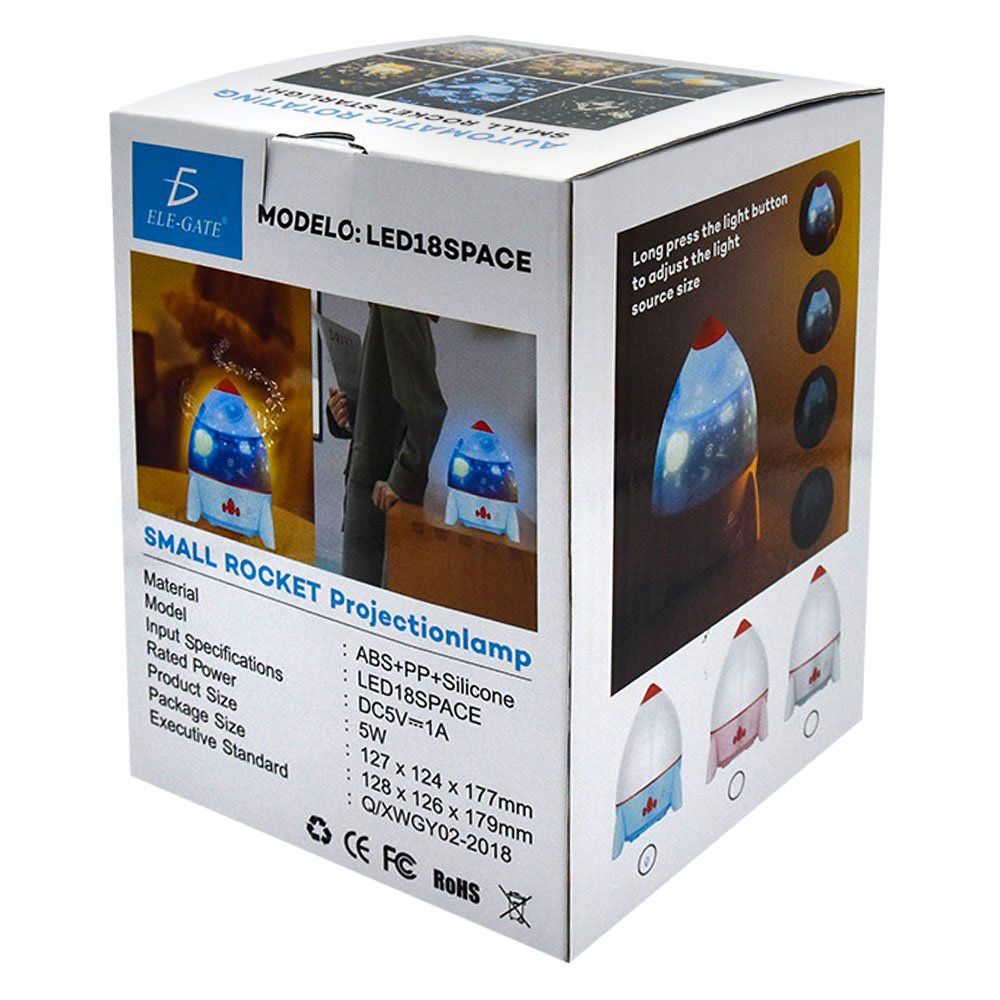 Lámpara led space / automatic rotating / small rocket starlight / led.18.space