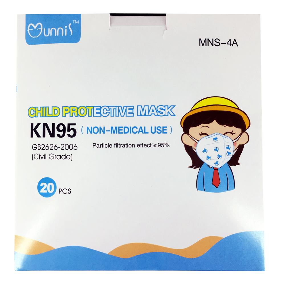 Caja de kn95 sin filtro con 20pz de colores mns-4a