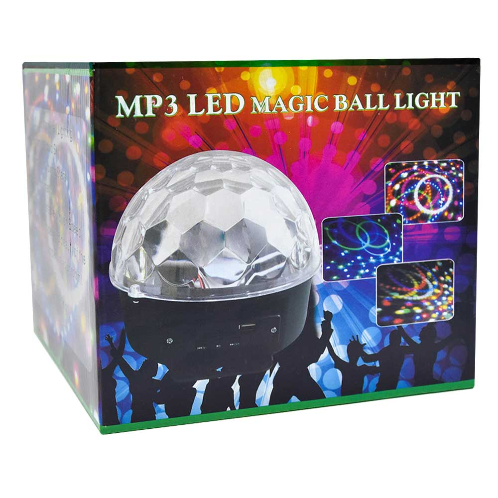 Bocina mp3 con luz led mq01