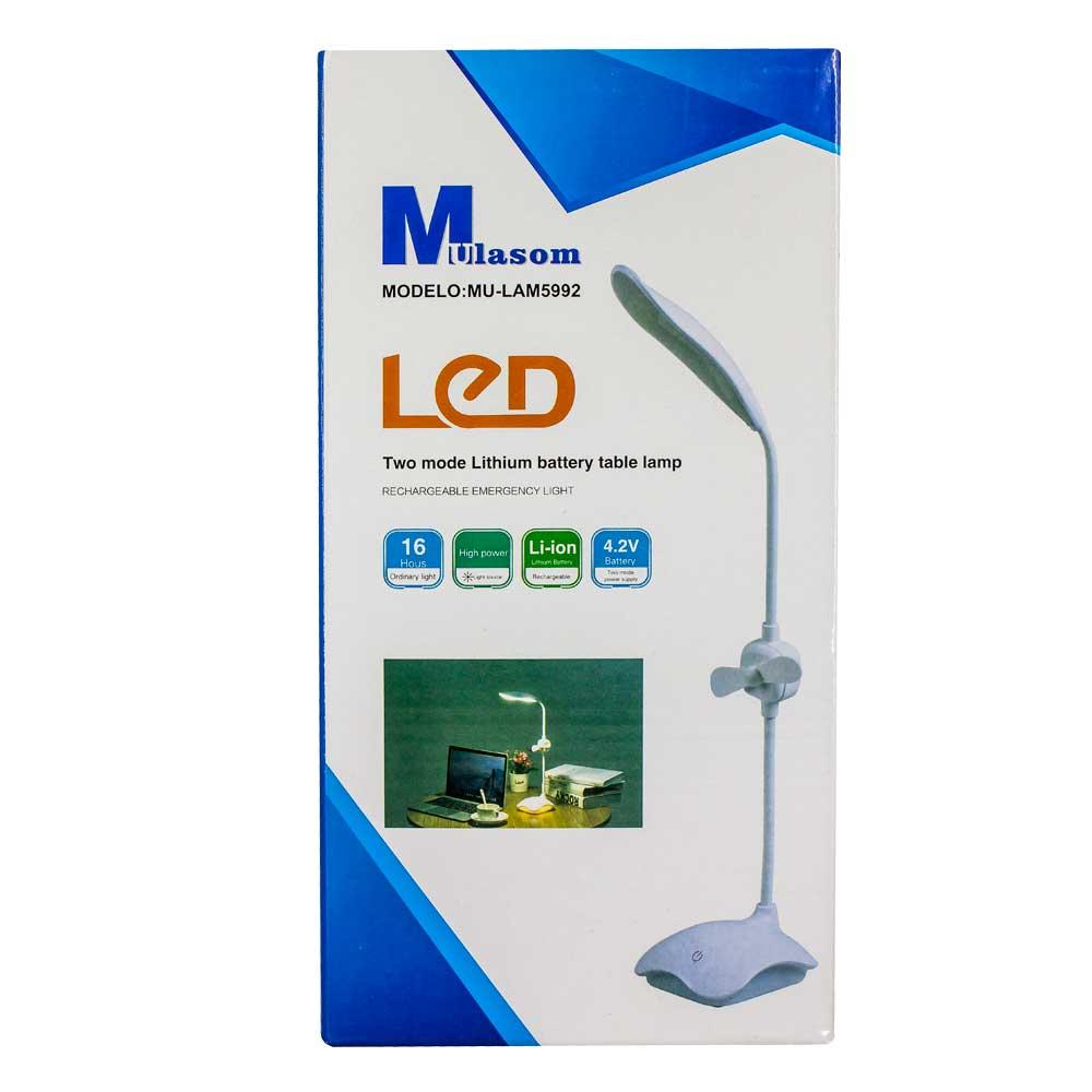 Lampara de mesa musalom / two mode lithium battery table lamp / lam5992