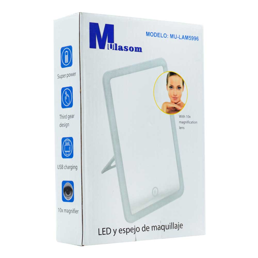 Espejo de maquillaje led mulasom / lam5996