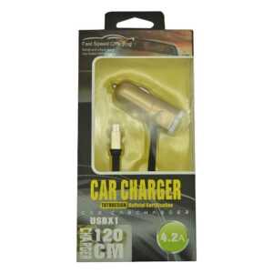 Cargador de coche tipo lightning 4.2a car charger totudesing qc-01