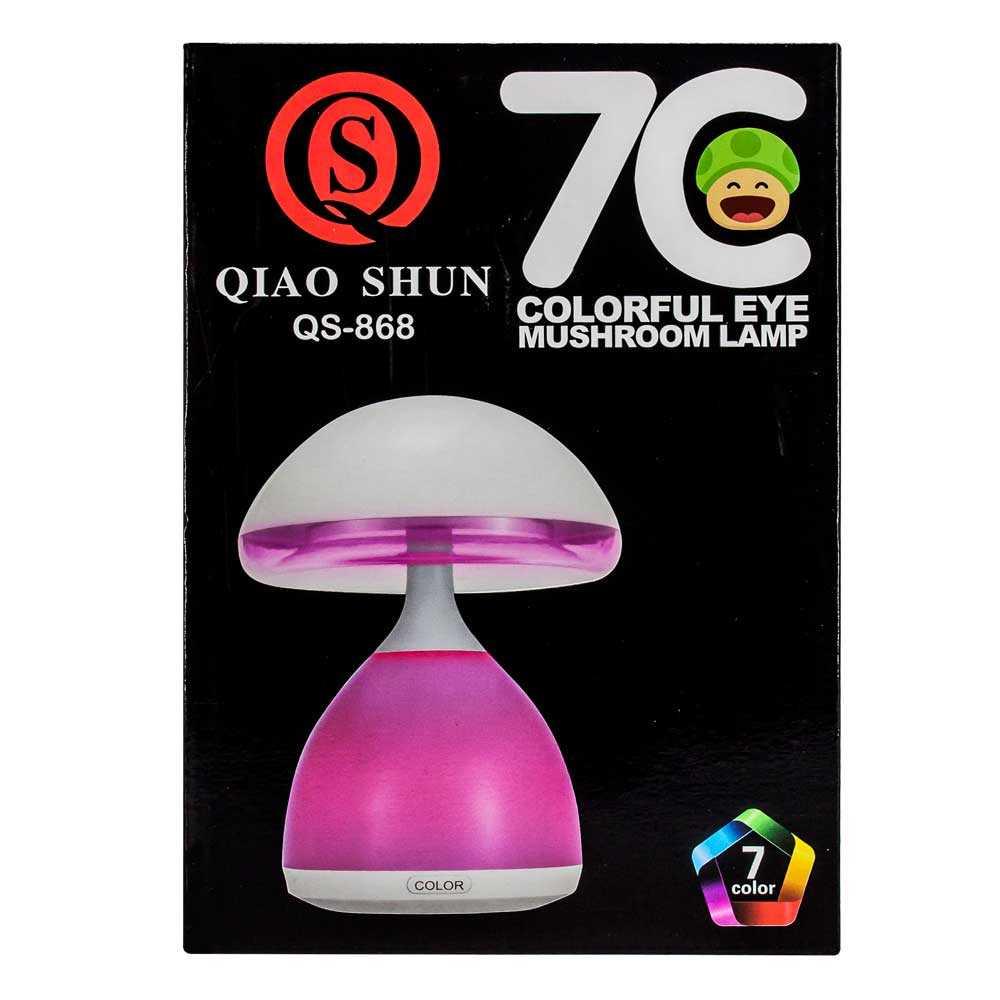 Lampara en foma de champiñon qs-868 7 colores
